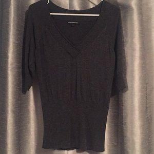 Express V-Neck Lightweight Sweater